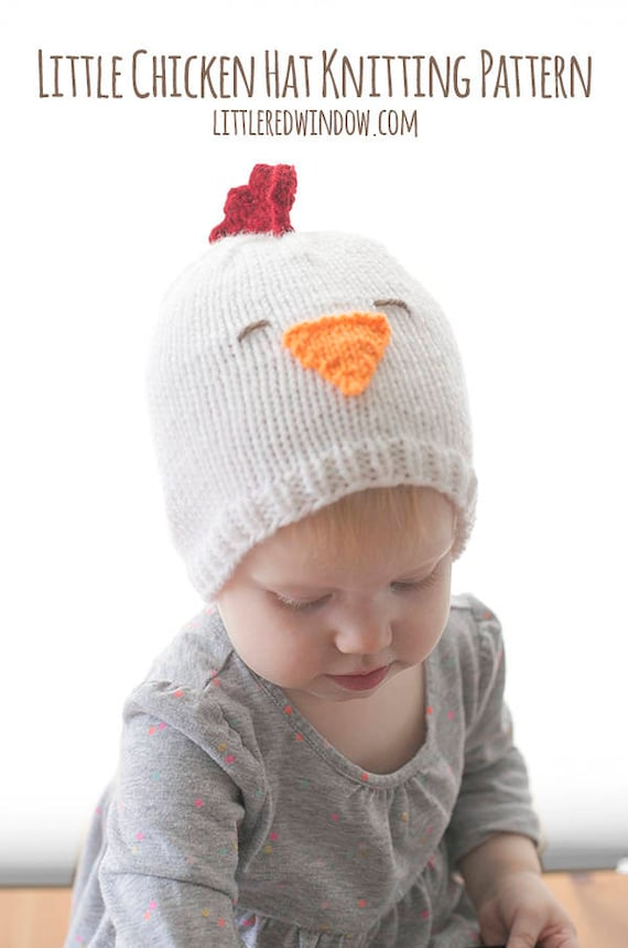 Baby Chicken Hat KNITTING PATTERN / Knitted Chicken / Chicken | Etsy