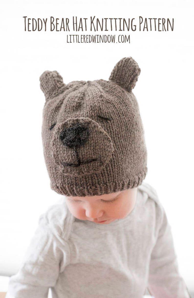 d82010cb60a Teddy Bear Hat KNITTING PATTERN   Bear Hat Pattern Baby Teddy