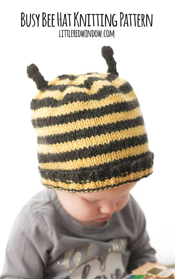 Baby Bee Hat KNITTING PATTERN   Bee Knitting Pattern   Baby   Etsy 223029dd69c