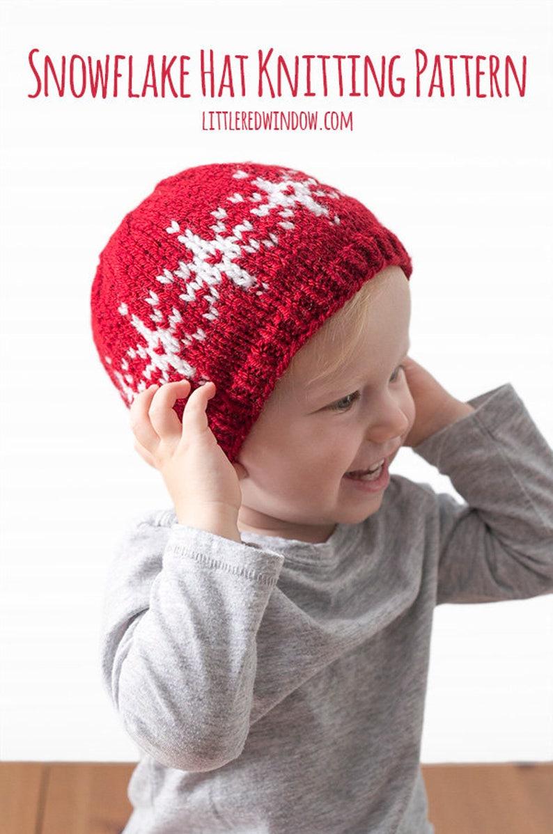 0b18774ad Baby Snowflake Hat KNITTING PATTERN   Snowflakes Pattern