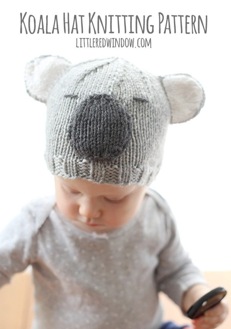 6be93e262c5 Koala Bear Hat Baby KNITTING PATTERN   Koala Bear Pattern