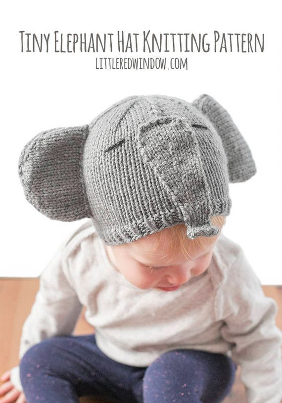 Baby Elephant Hat KNITTING PATTERN   Elephant Pattern   Baby  2dc5f17b691