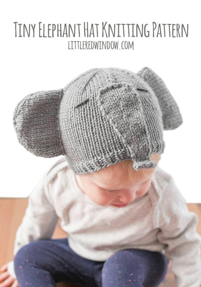 Baby Elephant Hat KNITTING PATTERN / Elephant Pattern ...