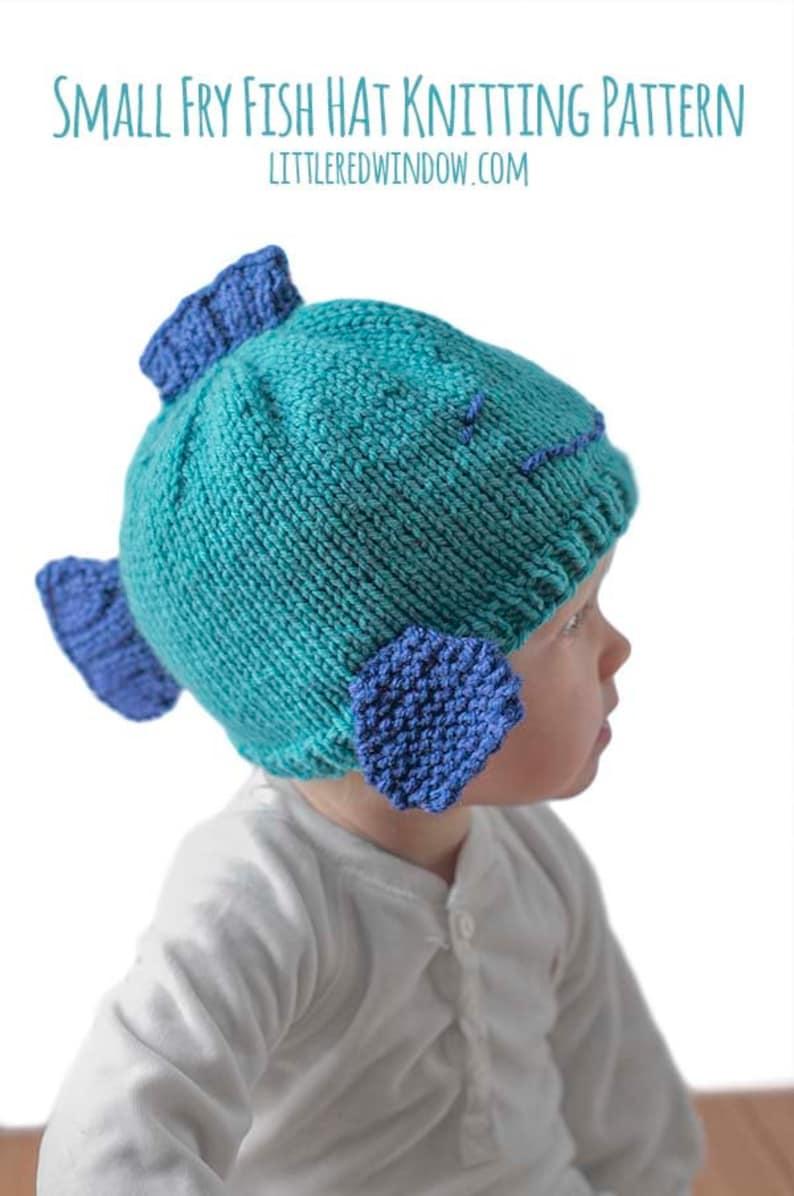 38d42860e03 Fish Hat KNITTING PATTERN   Fish Hat Pattern   Baby Fish Hat