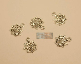 Charm Cobweb, Charms, Halloween, spider, pendant, Jewellery, jewellery making, accessoire, creation, craft material, material, accessory