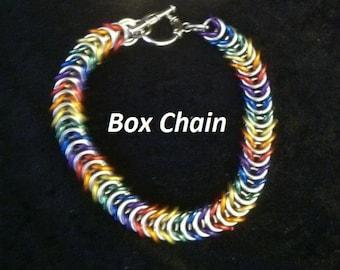 Single Row Chain Mail Bracelet