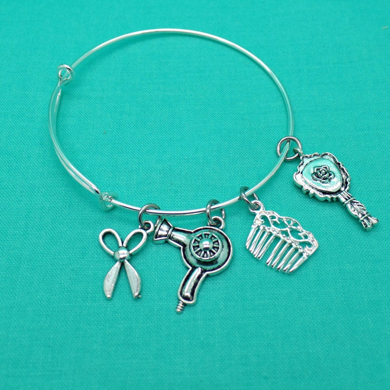 Hair Dresser Gift Hairdresser Gift Beautician Hair Stylist Adjustable Bangle Bracelet Hair Stylist Gift Gift for Hairstylist