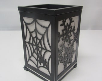 party lite magnetic changeable lantern halloween christmas decor