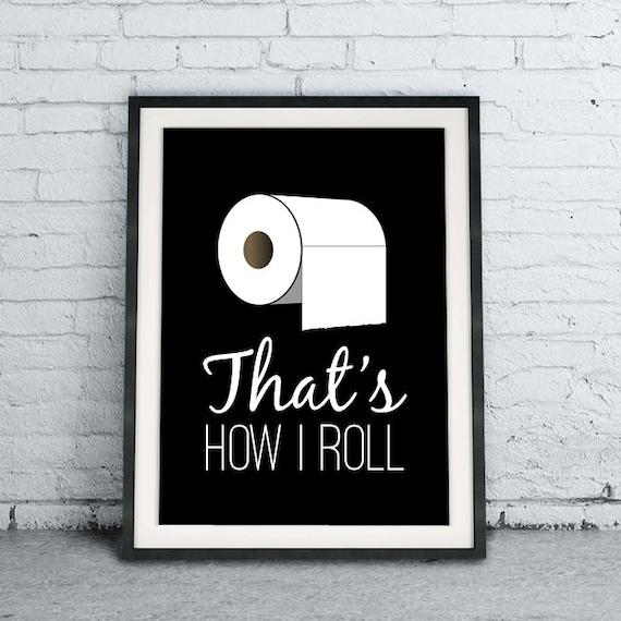 Minimalist Bathroom Items: That's How I Roll Black And White Minimalist Bathroom