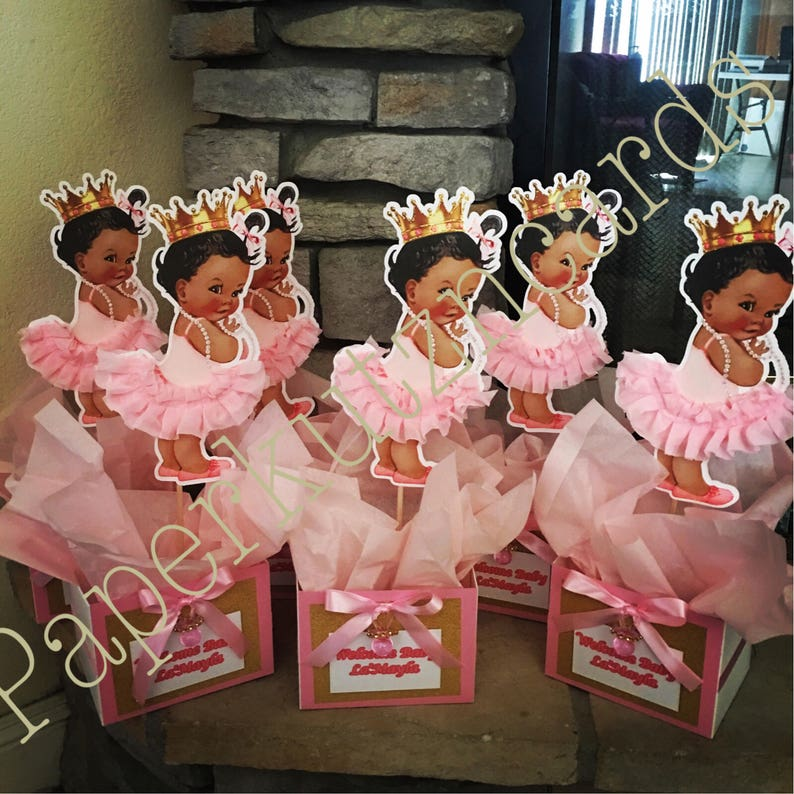 Baby Girl Centerpiece Baby Shower Birthday Party Royal Etsy