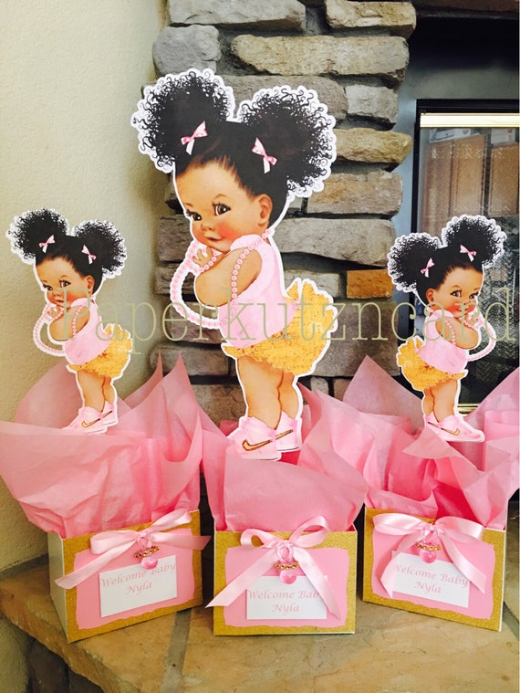 Afro Puff Babies African American Baby Royal Baby Shower Etsy