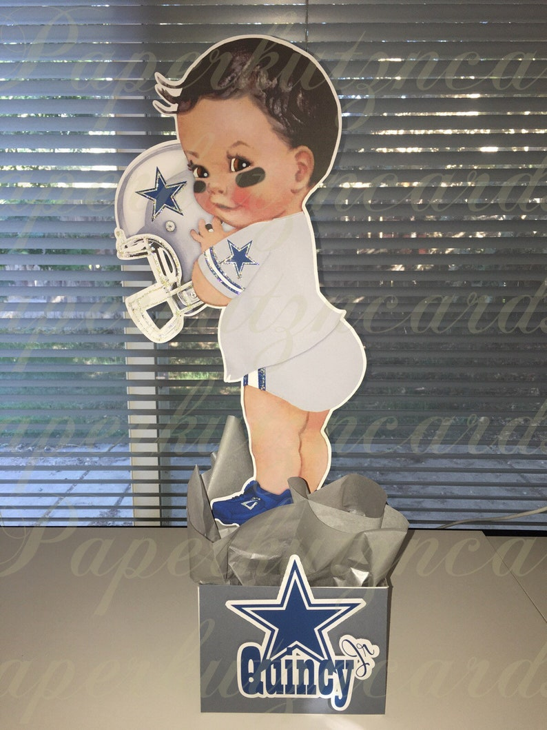 4ad2db601 Dallas Cowboy Football baby boy baby shower, african american baby boy,  birthday party, 1st birthday party, designer baby shower