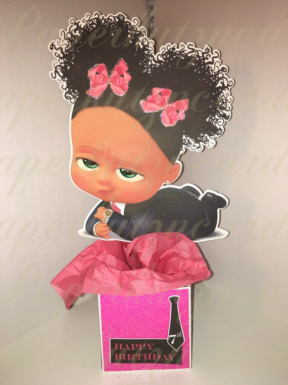 Boss Baby Girl Afro Puffs African American Centerpieces Etsy