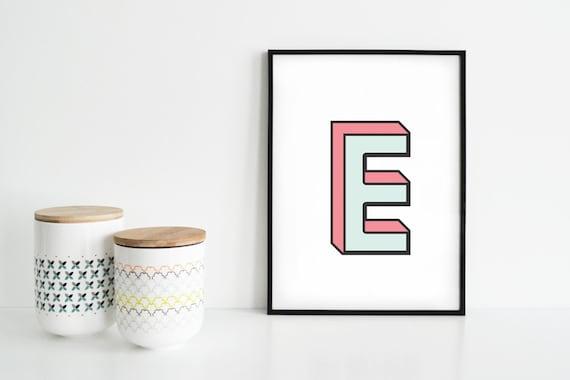 Poster-Diagramm mit Buchstaben bedruckt | Etsy