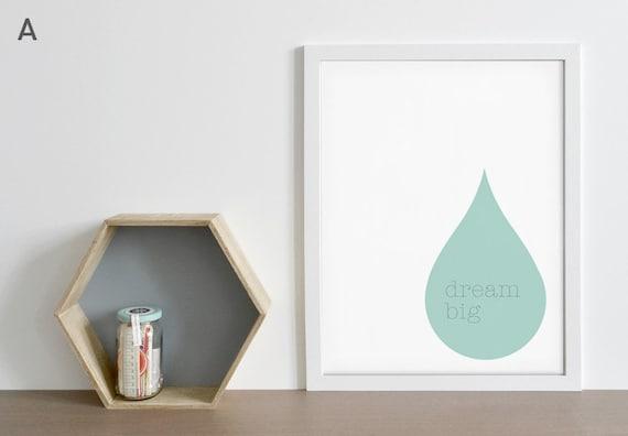 Poster-Diagramm gedruckt in Pastell Farben-Drop Dream groß | Etsy