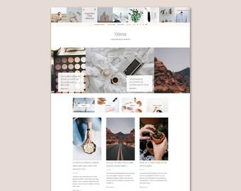 Olivia • Lifestyle Blogger Template •  Fashion Blogger Template • Beauty Blogger Template.