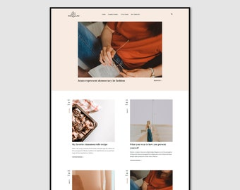 Ellie • Lifestyle Blogger Template •  Fashion Blogger Template • Beauty Blogger Template.