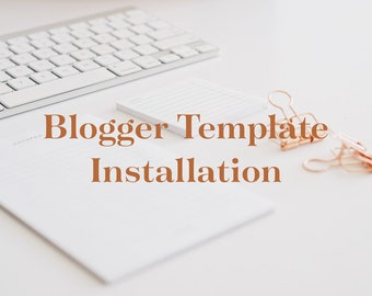 Blogger template installation - Only MG Studio templates.