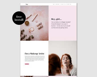 Nina • Business Blogger Template • Website Template • Small Business • Free installation.