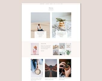 Nova • Lifestyle Blogger Template •  Fashion Blogger Template • Beauty Blogger Template.