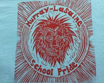 Youth-Murray LaSaine School pride tshirt/sky blue w red print