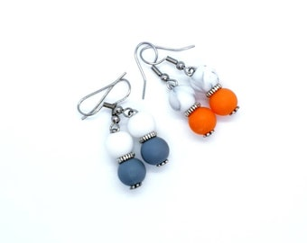 Inspired Fashion Jewelry Trendy Colored Open Filigree Metal Earrings in Tangerine Burnt Orange