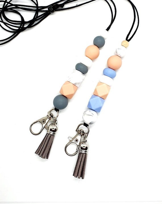 Beaded Teacher Lanyard / Lanyard for Keys / Tassel Lanyard