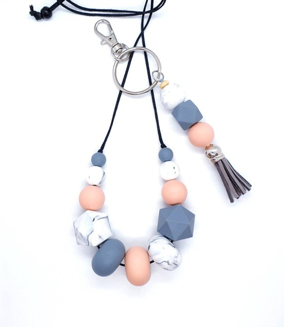 Silicone Necklace and Key Ring  / Gift Set Her / New Mum Gift