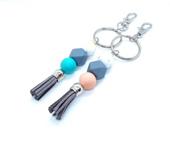 Tassel Keychain / Silicone Keyring / Bag Charm