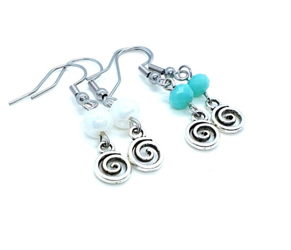 Swirl Earrings / Vertigo Earrings / Infinity Earrings
