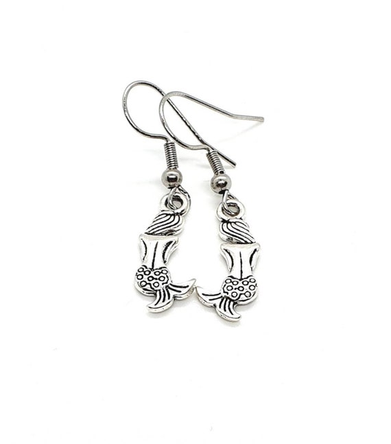 Mermaid Earrings / Silver Earrings