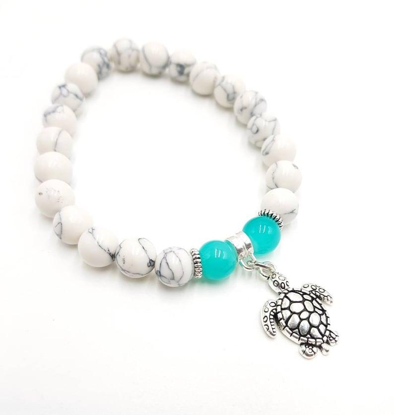 Turtle Bracelet Charm Bracelet Gemstone Bracelets