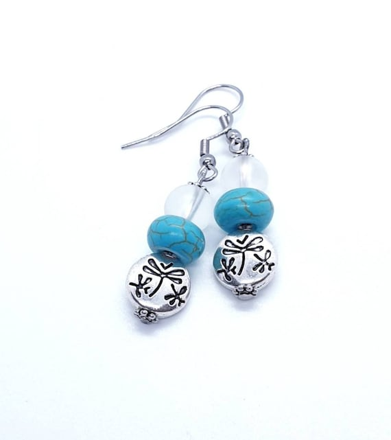 Dragonfly Earrings / Silver Earrings / Dangle Earrings