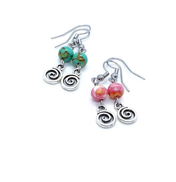 Swirl Earrings / Vertigo Earrings / Infinity Earrings