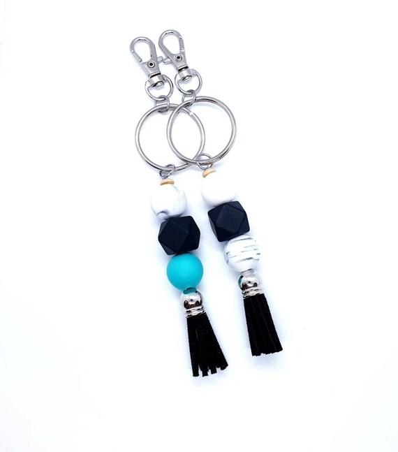 Tassel Keychain / Silicone Key Ring / Bag Charm