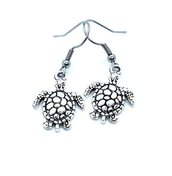 Turtle Earrings / Animal Jewelry