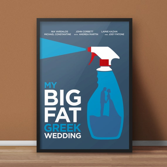 8 5x11 Digital Print My Big Fat Greek Wedding Minimalist Etsy