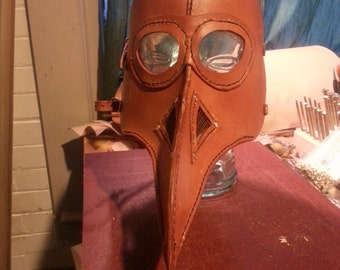 Full Face Leather Plague Dr mask