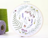 Wildwood Embroidery Kit, Embroidery Design, Floral Embroidery, Hand Embroidery, Hoop Art, DIY Kit, Modern Embroidery, Adult Craft Kit,