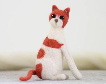 Cat Needle Felting Kit, Needle Felted Animal, Felting Kit, Needle Felted Cat, Felt Animals, Felting Wool, Needle Felting Kit, DIY Kit