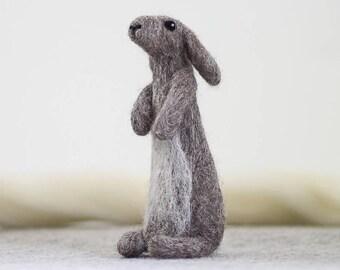 Rabbit Needle Felting Kit , Needle Felted Animal, Felting Kit, Needle Felted Rabbit, Felt Animals, Felting Wool, Needle Felting Kit, DIY Kit