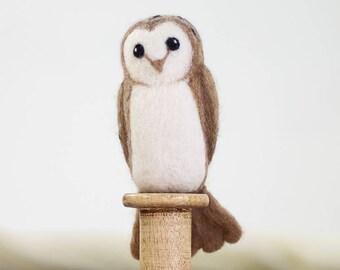 Barn Owl Needle Felting Kit, Needle Felted Animal, Felting Kit, Needle Felted Owl, Felt Animals, Felting Wool, Needle Felting Kit, DIY Kit