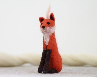 Fox Needle Felting Kit, Needle Felted Animal, Felting Kit, Needle Felted Fox, Felt Animals, Felting Wool, Needle Felting Kit, DIY Kit