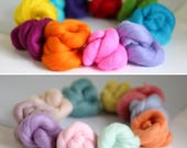 Wool Roving Bundles Brights & Pastels Special Offer