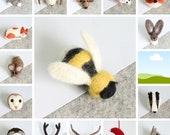 Mini Needle Felting Kit {2x Special Offer} Needle Felting Kit, Felting Kit, Needle Felting, DIY Kit, Needle Felted Animals, Felt Brooch