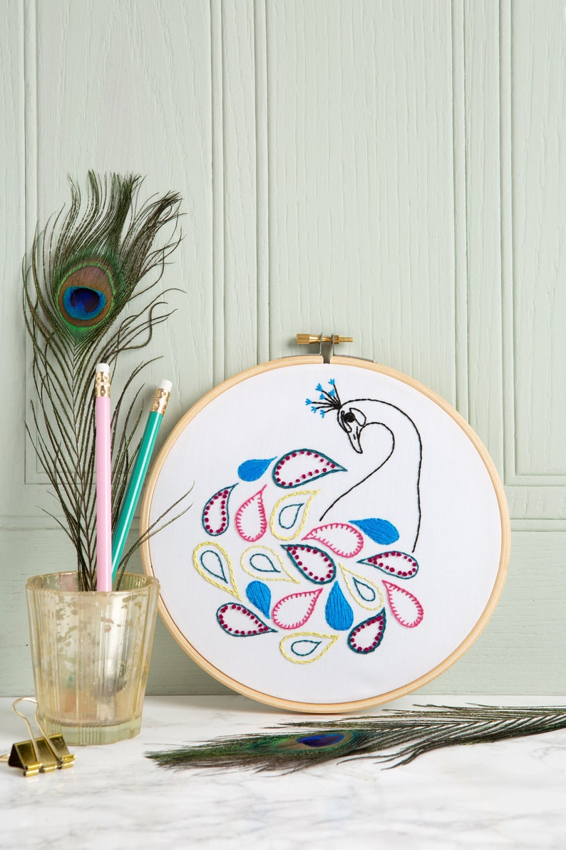 Peacock PDF Embroidery Pattern Instant Download