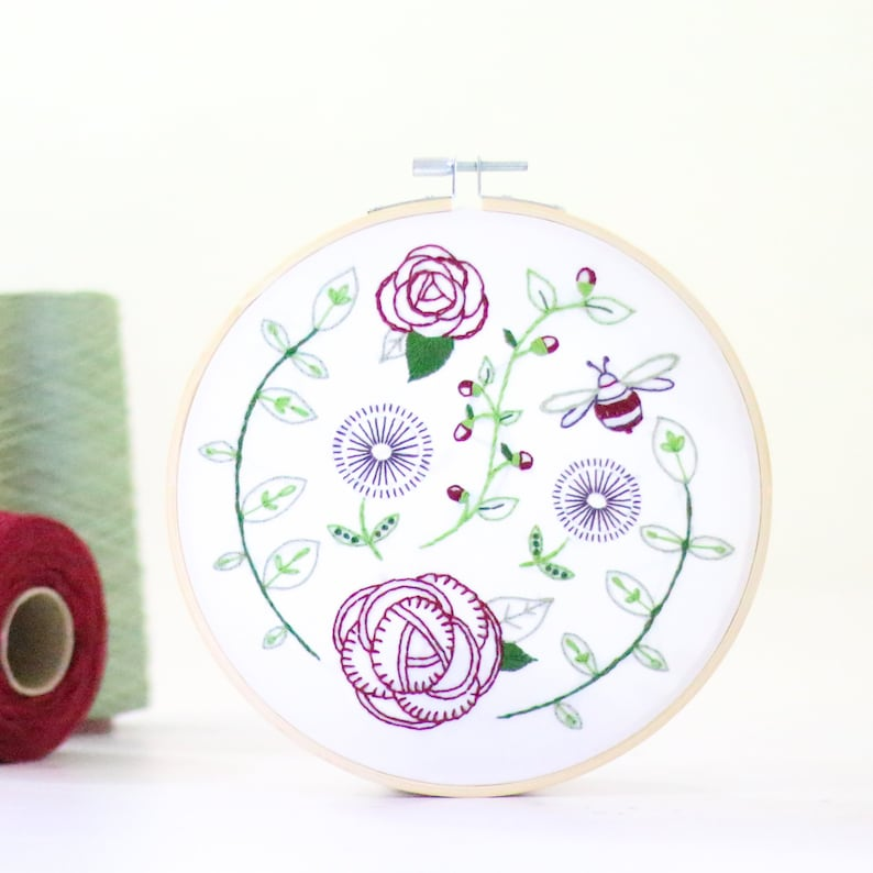 Rose Garden Embroidery Kit  Craft Kit for Beginners image 0