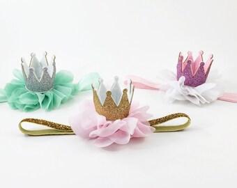 Princess Crown headband, Crown Headband, Newborn Crown, 1st Birthday Crown baby crown Headband,newborn photo prop,princess birthday headband
