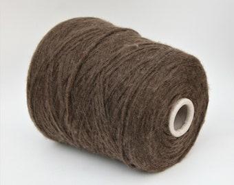 Yak blend worsted weight yarn on cone, knitting yarn, weaving yarn, crochet thread