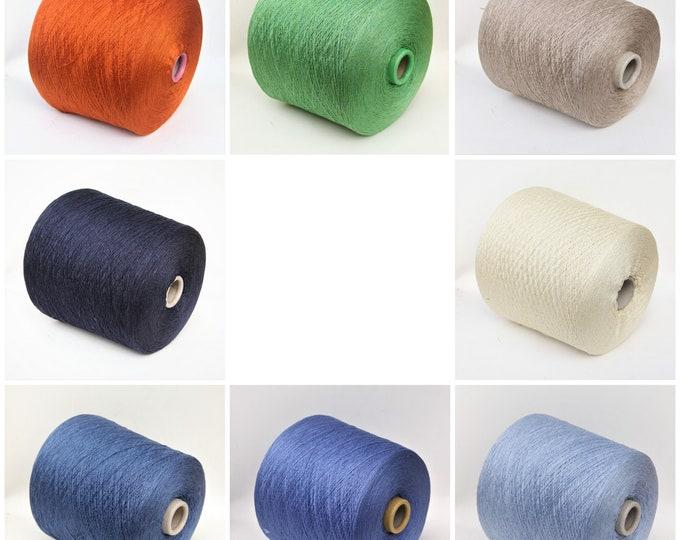 100% silk yarn lace weight on cone, knitting yarn, weaving yarn, crochet thread